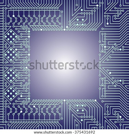 Seamless background of electrical circuit of computer board device (motherboards). Blue Light Abstract Technology background for computer graphic website internet business. Electrical circuit.  - stock vector