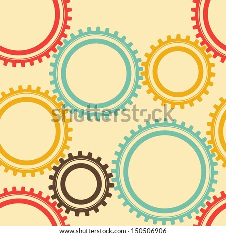 Seamless Background Of Gears - stock vector