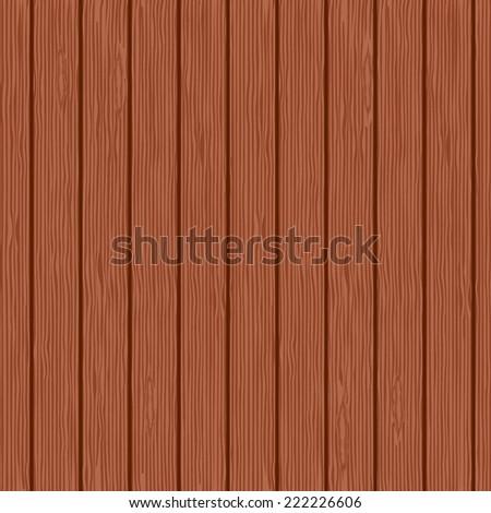 Seamless background of mahogany planks. Vector illustration. - stock vector