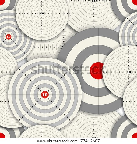 Seamless background of Targets - stock vector