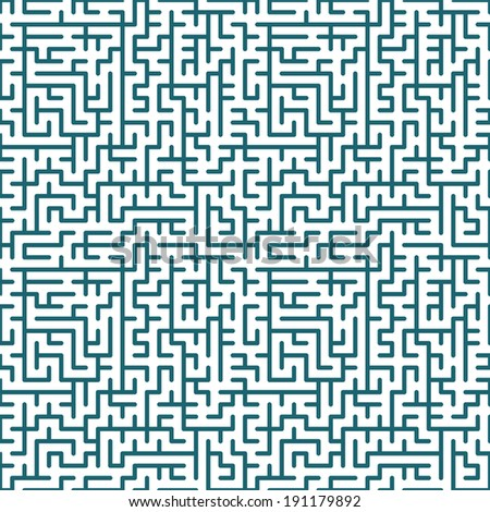 Seamless background of the maze pattern