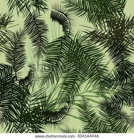 Seamless background palm trees. Vector - stock vector