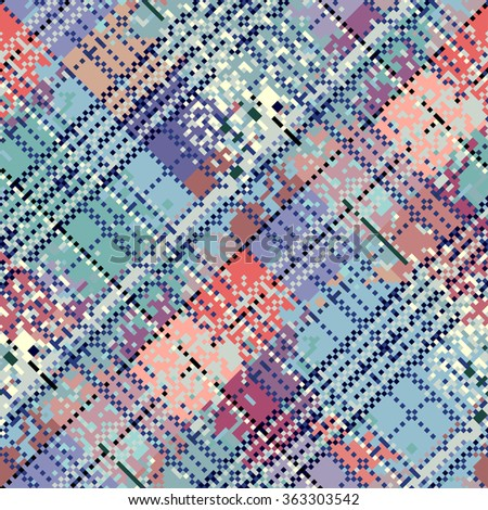 Seamless background pattern. Abstract diagonal pixel pattern. - stock vector