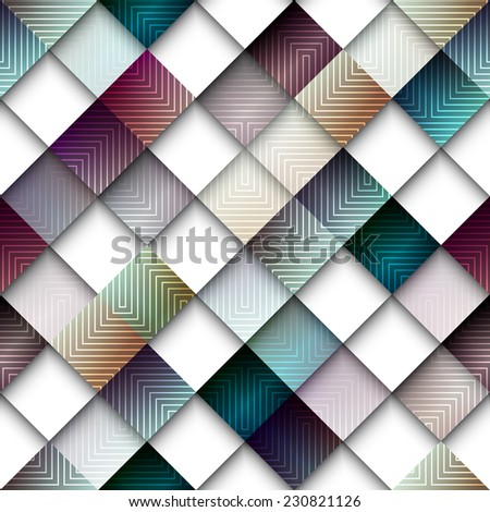 Seamless background pattern. Abstract geometric pattern from rhombus - stock vector