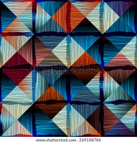 Seamless background pattern. Abstract geometric pattern in patchwork style - stock vector