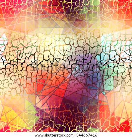 Seamless background pattern. Abstract grunge geometric pattern with a cracks.. - stock vector