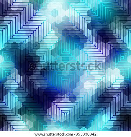 Seamless background pattern. Abstract matrix geometric pattern. - stock vector