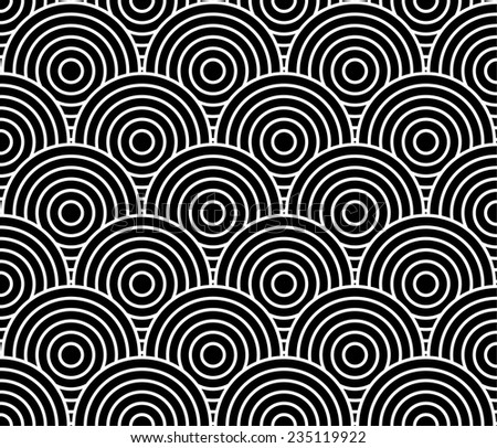 seamless background pattern circles, fish scale - vector illustration, fully editable, you can change form and color - stock vector