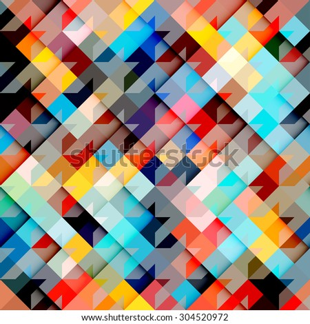 Seamless background pattern. Hounds-tooth pattern on geometric background. - stock vector