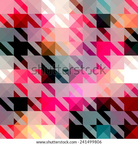 Seamless background pattern. Houndstooth pattern on abstract geometric background. - stock vector
