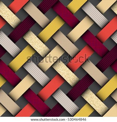 Seamless background pattern in trendy material design style. Imitation of a textured papers.