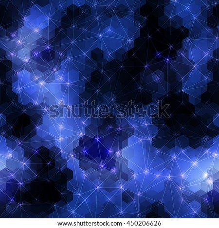 Seamless background pattern. Navy blue geometric abstract pattern. - stock vector