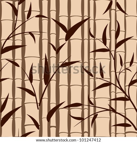 seamless background pattern of bamboo - stock vector