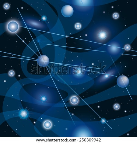 Seamless background pattern. Pattern of space, night sky.