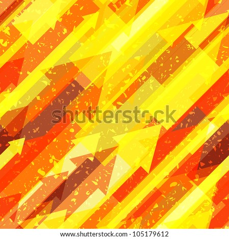 Seamless background pattern with many arrows with grunge effect on different layer, eps 10 using transparency, vector wallpaper - stock vector