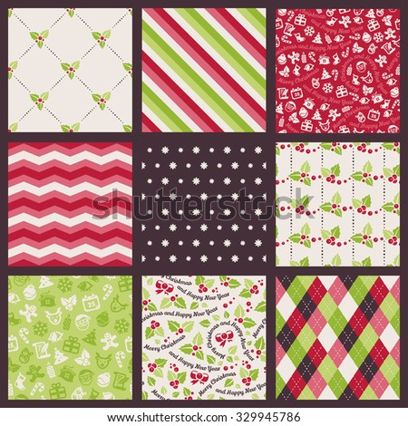 Seamless background. Patterns about Christmas and New Year - stock vector