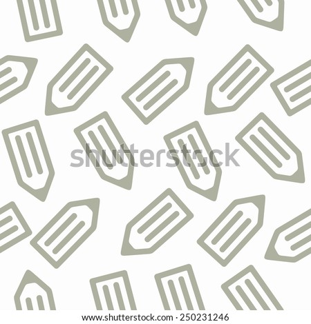 seamless background: pencil - stock vector