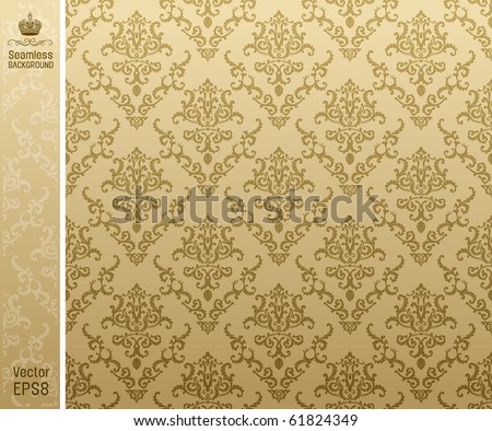 seamless background vintage beige. vector illustration - stock vector
