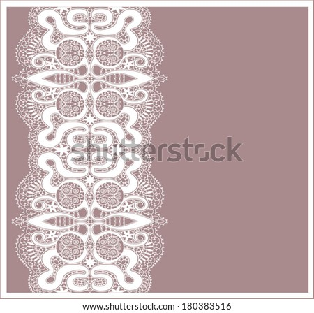 Seamless background with a floral ornament Abstract decoration, invitation card with ornate detailed ornament. Template frame design for card, frame border isolated elements - stock vector