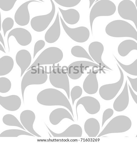 Seamless background with art leafs