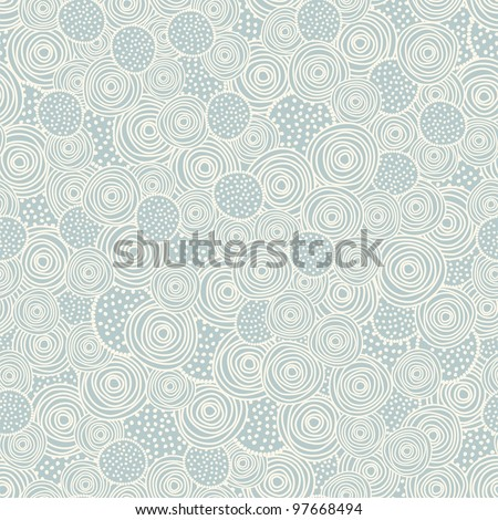 Seamless background with beige circles - stock vector