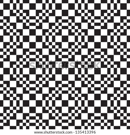 Seamless background with black and white squares - stock vector