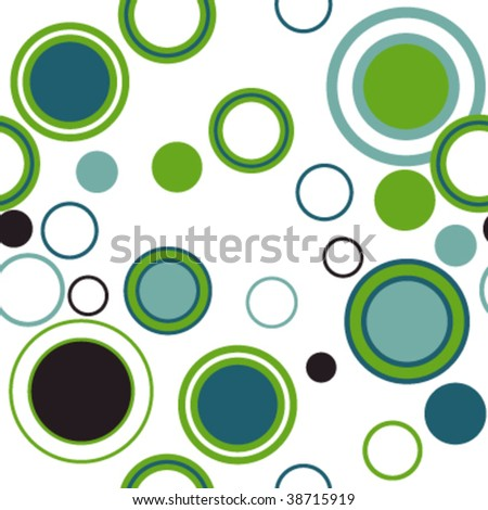 Seamless background with circles. Easy to edit vector image. - stock vector