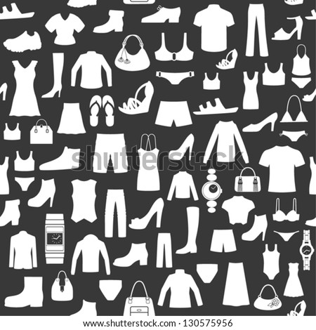 Seamless background with clothing. - stock vector