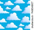 Seamless background with clouds 3 - vector illustration. - stock vector