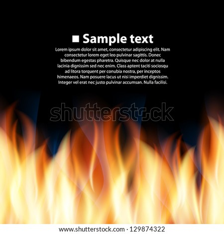 seamless background with flame - stock vector