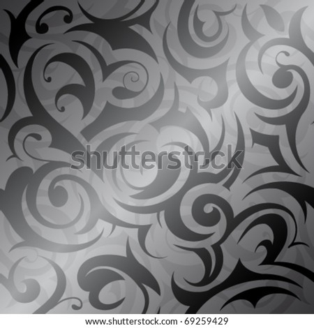 Seamless background with floral elements - stock vector