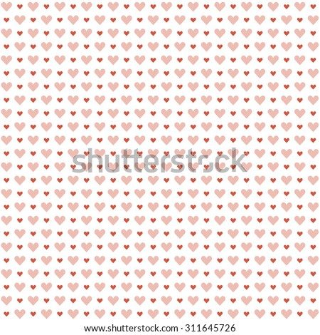 seamless background with hearts for valentines day - stock vector