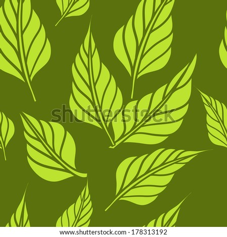 Seamless background with leafs. Eco print. Vector illustration/ Eps 8