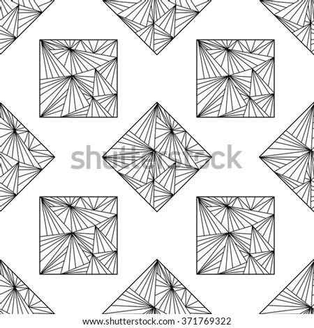 Seamless background with modern abstract geometrical  ornament. Wallpaper, cover, wrapper, fabric, textile.