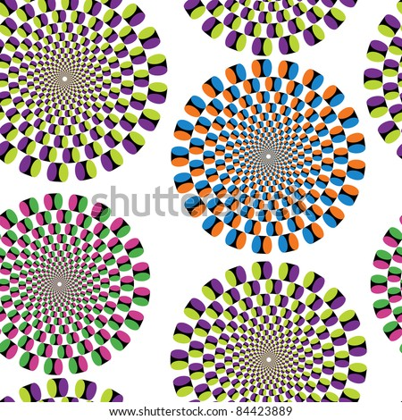 Seamless background with optical illusion (eps8) - stock vector