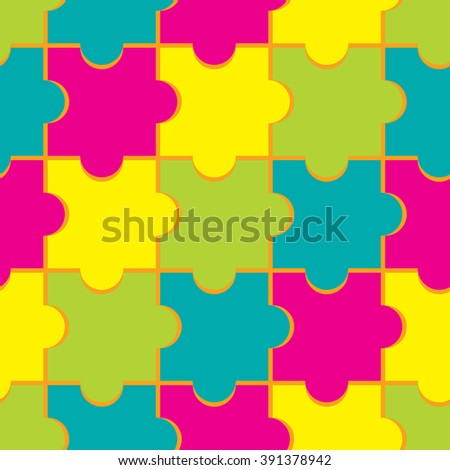 seamless background with puzzle
