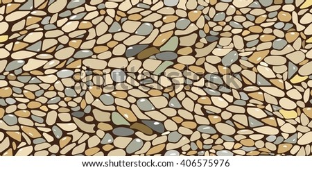 Seamless background with shapes. Abstract pattern for design or wallpaper.  The fragment of a pavement, stone-paved surface. Vector illustration.