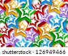 Seamless background with stars - stock vector