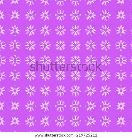 Seamless background with stylized Christmas snowflakes. EPS 8 vector - stock vector