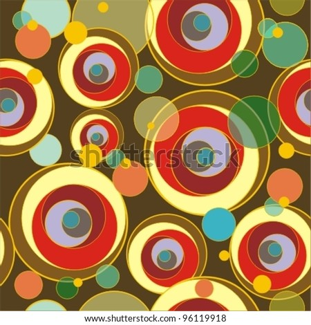 Seamless background with various circles - stock vector