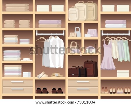 Seamless background with wear and accessories - stock vector