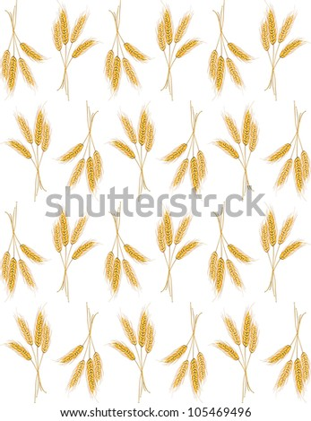 Seamless background with wheat ears for wallpaper design. Jpeg version also available in gallery - stock vector
