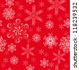 seamless background with winter snowflakes for your design - stock vector