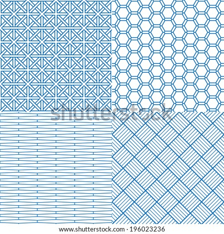 Seamless backgrounds of Chinese style - stock vector
