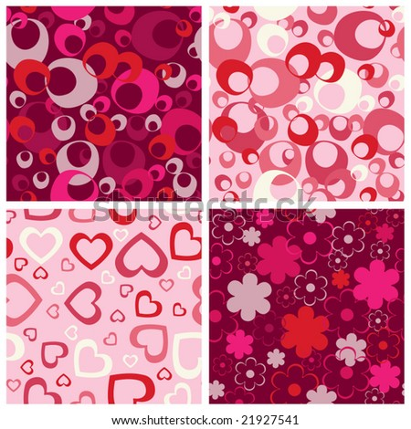 Seamless backgrounds set. Vector illustration. - stock vector