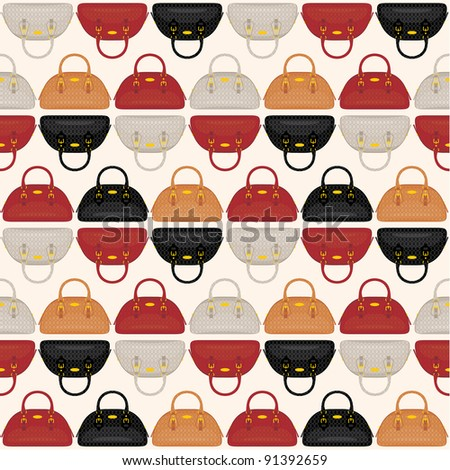 Seamless bags pattern. vector - stock vector