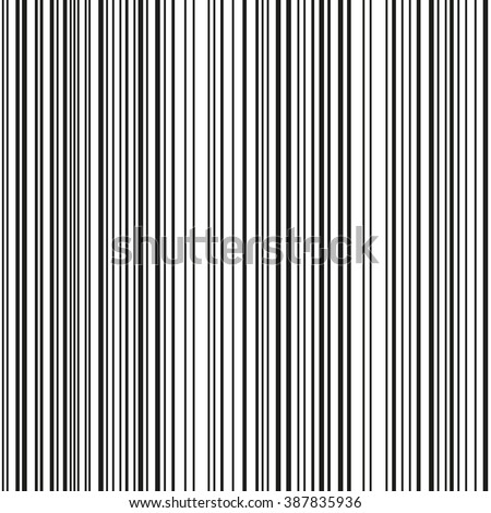 Seamless barcode vector pattern. Black, white. Vector stylish background - stock vector