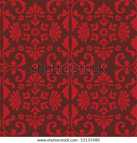 Seamless baroque pattern; vector format - stock vector