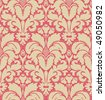 Seamless baroque style damask background - stock photo