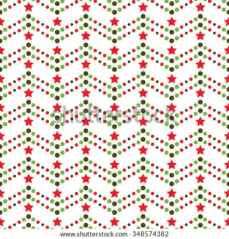 Seamless beads pattern. Seamless stars Pattern. Circle pattern. Abstract Vector Background. Garlands and stars. Seamless Christmas Pattern.New year background.Geometric Pattern.Vector Regular Texture. - stock vector
